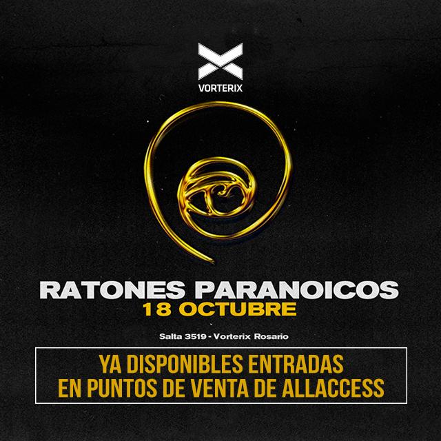 RATONES PARANOICOS en Teatro Vorterix Rosario