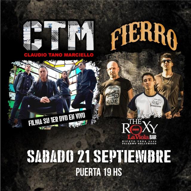 Filmación 1er. DVD CTM CTM Claudio Tano Marciello Fierro en The Roxy