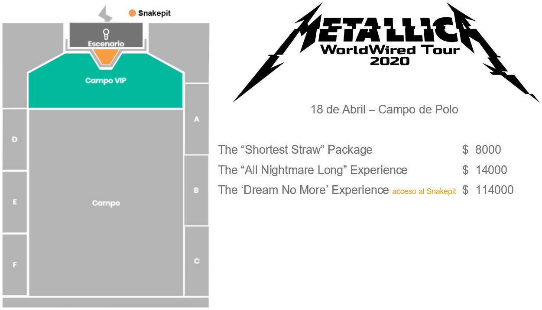 Metallica VIP PACKAGES