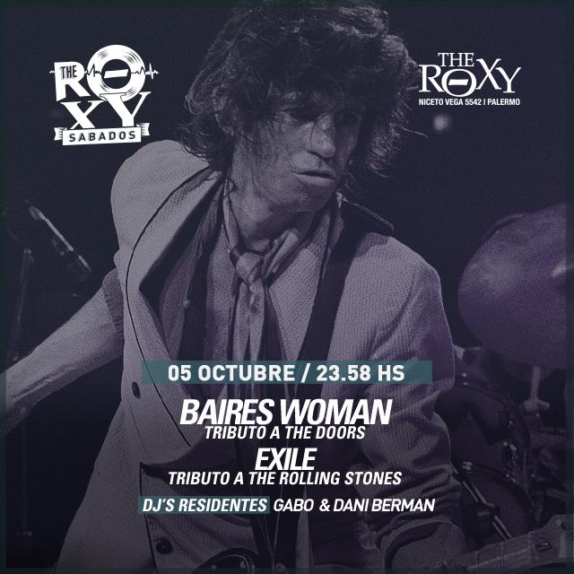 THE ROXY SÁBADOS Baires Woman & Exile Noche de tributos en The Roxy