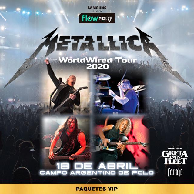 Metallica VIP PACKAGES en Campo Argentino de Polo