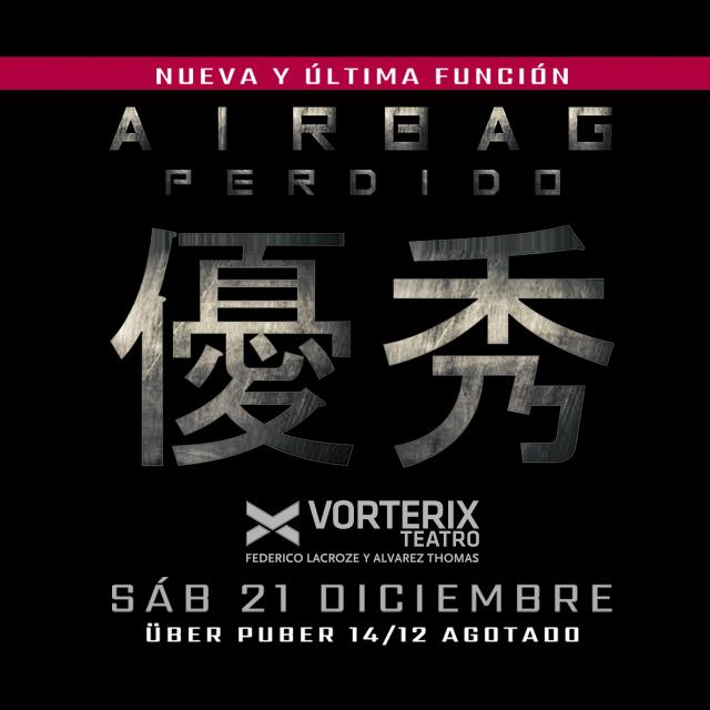 AIRBAG PERDIDO en Teatro Vorterix