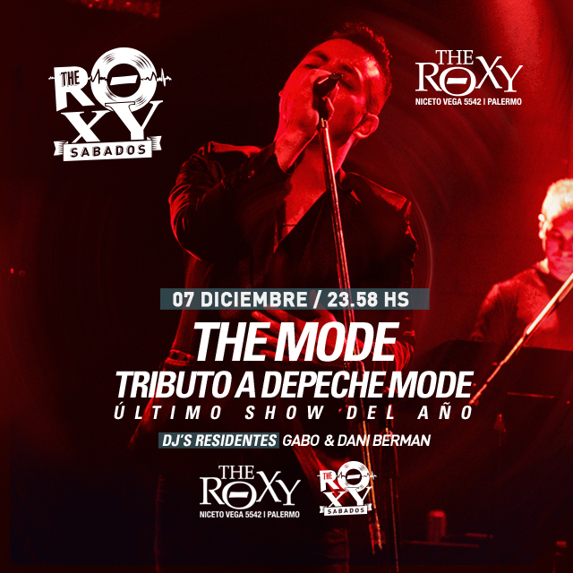THE ROXY SÁBADOS The MODE Depeche Mode Tributo en The Roxy