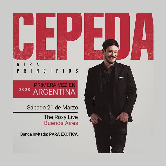 CEPEDA Primera vez en Argentina! Banda INV: PARA EXÓTICA en The Roxy