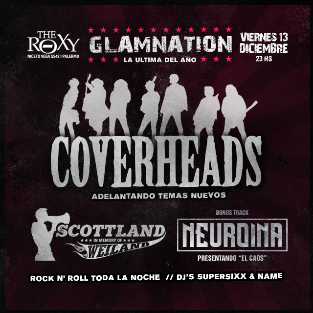 GLAMNATION COVERHEADS SCOTTLAND - NEUROINA en The Roxy