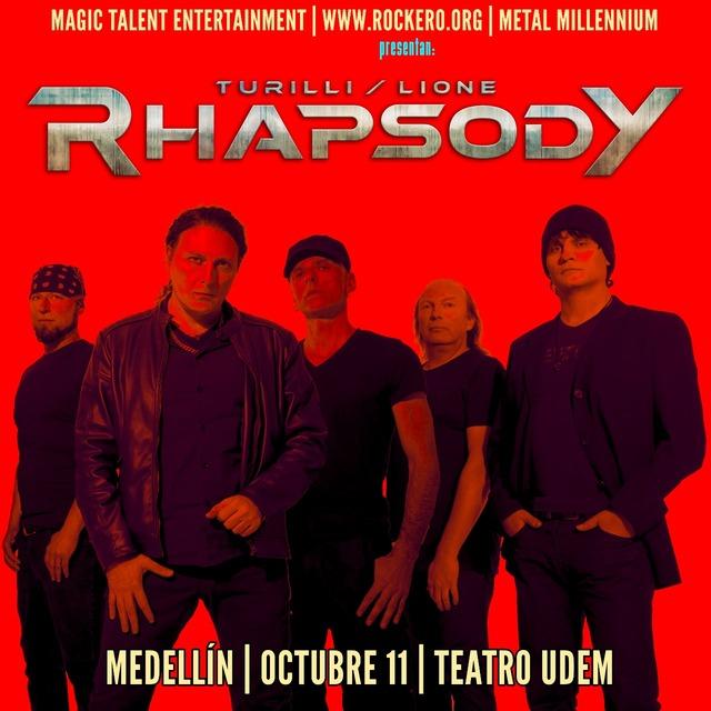 Turilli/Lione Rhapsody En Concierto En Medellín en Teatro Universidad de Medellín