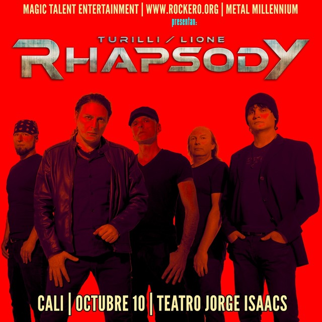 Turilli/Lione Rhapsody En Concierto En Cali en Teatro Jorge Isaacs Cali