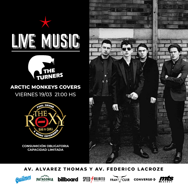 THE TURNERS - ARCTIC MONKEYS COVERS en The Roxy Bar & Grill