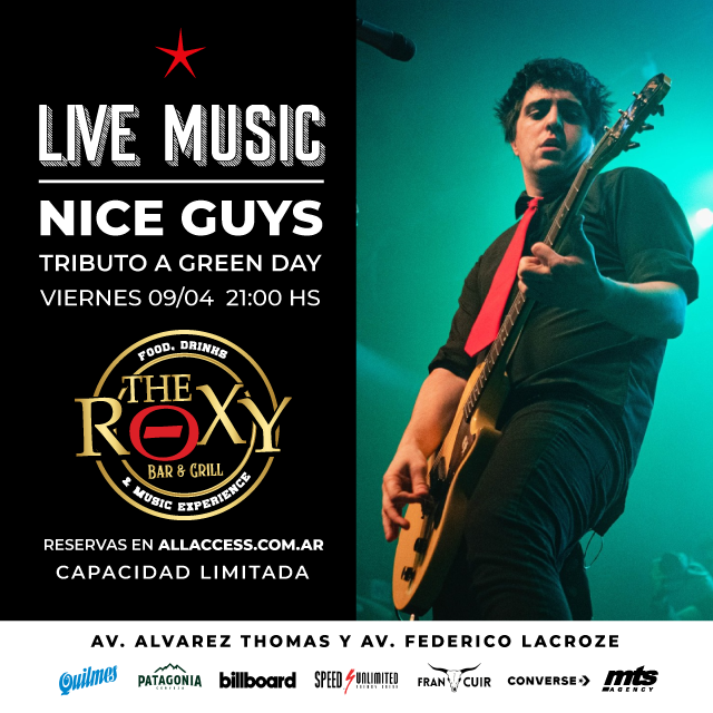 NICE GUYS - TRIBUTO A GREEN DAY en The Roxy Bar & Grill