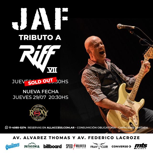 JAF - TRIBUTO A RIFF VII en The Roxy Bar & Grill