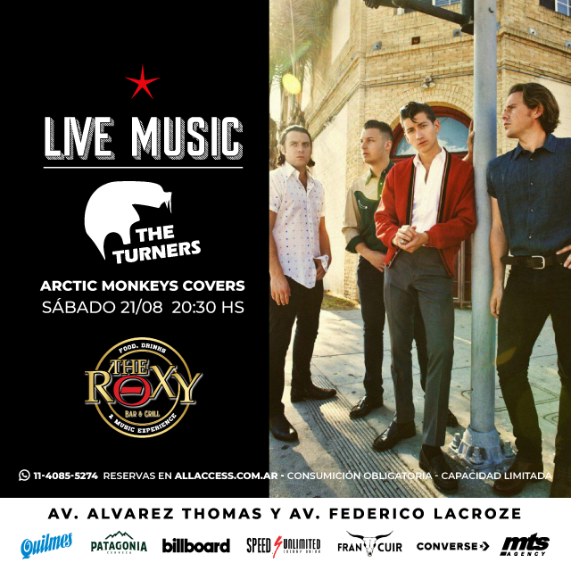 THE TURNERS - ARCTIC MONKEYS COVER en The Roxy Bar & Grill