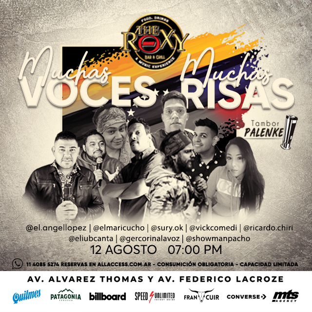 MUCHAS VOCES, MUCHAS RISAS en The Roxy Bar & Grill